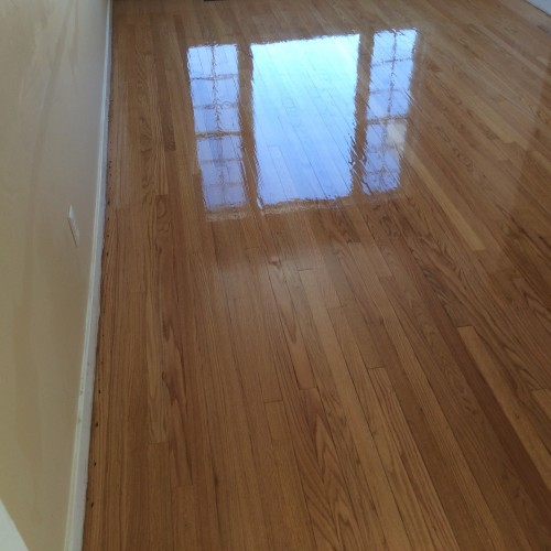 Oak floor after refinishing