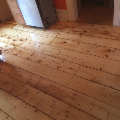 Old pine plank, After.